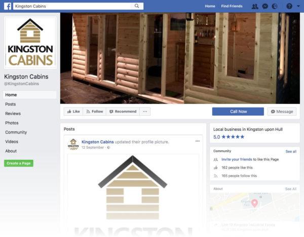 Kingston Cabins on Facebook